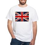 Grunge UK Flag White T-Shirt