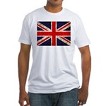 Grunge UK Flag Fitted T-Shirt