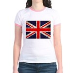 Grunge UK Flag Jr. Ringer T-Shirt