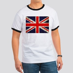 Grunge UK Flag Ringer T
