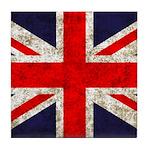 Grunge UK Flag Tile Coaster
