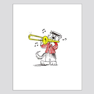 Catoons™ Trombone Cat Small Poster