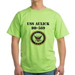 USS AULICK Green T-Shirt