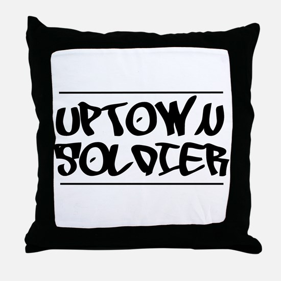 Funny Uptown Throw Pillow