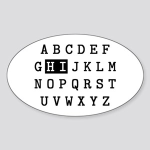 Alpha Hi Sticker (Oval)