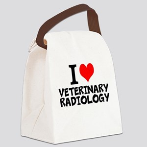 I Love Veterinary Radiology Canvas Lunch Bag