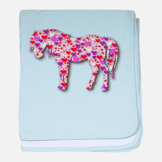 The Original Heart Horse baby blanket
