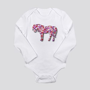 The Original Heart Horse Long Sleeve Infant Bodysu