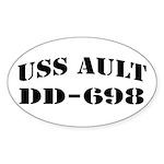 USS AULT Sticker (Oval)