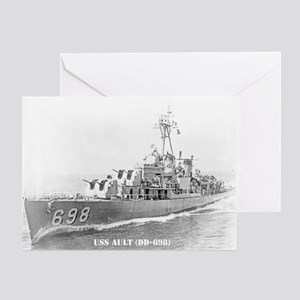 USS AULT Greeting Card
