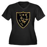 USS AULT Women's Plus Size V-Neck Dark T-Shirt