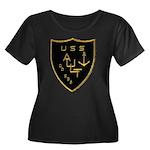 USS AULT Women's Plus Size Scoop Neck Dark T-Shirt
