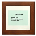 Haiku Framed Tile