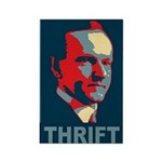"Calvin Coolidge ""Thrift""Rectangle Magnet"