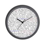 Gill's Titles Wall Clock