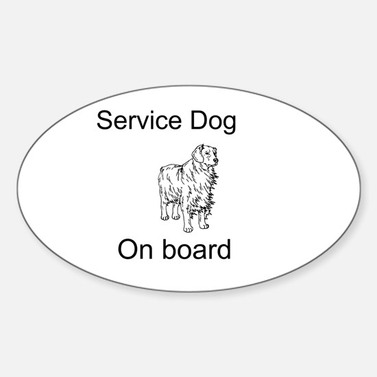 Cute Disabled dog Sticker (Oval)
