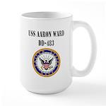 USS AARON WARD Large Mug