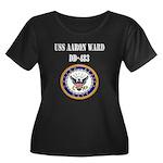 USS AARON WARD Women's Plus Size Scoop Neck Dark T