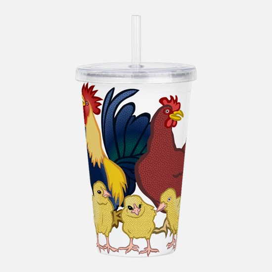 chickens Acrylic Double-wall Tumbler