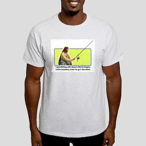 Fishing with Jesus Ash Grey T-Shirt