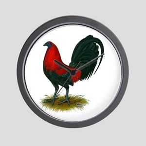 Big Red Rooster Wall Clock