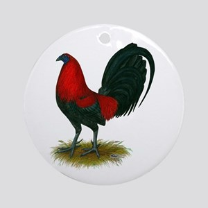 Big Red Rooster Ornament (Round)