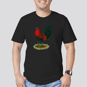 Big Red Rooster Men's Fitted T-Shirt (dark)