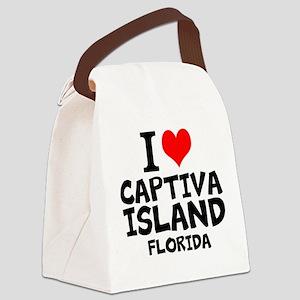 I Love Captiva Island Canvas Lunch Bag