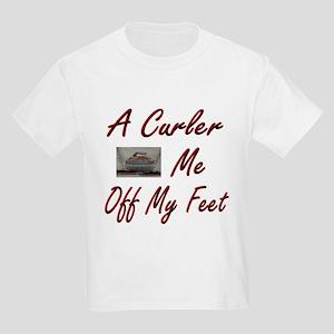 A Curler Swept Me Off My Feet Kids T-Shirt