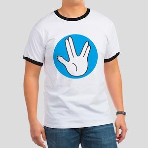 Vulcan Salute (blue) Ringer T