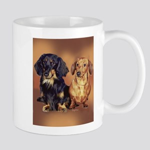 Two Dachshunds Portrait Mug