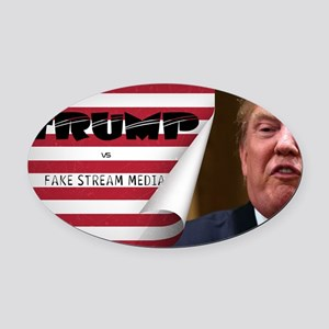 Trump vs FSM Oval Car Magnet