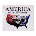 21st Century America Throw Blanket