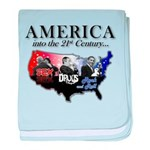 21st Century America baby blanket