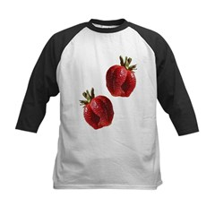 Strawberries Kids Baseball Jersey