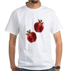Strawberries White T-Shirt