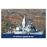 USS ARTHUR W. RADFORD Large Poster
