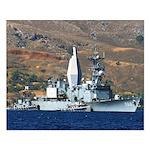 USS ARTHUR W. RADFORD Small Poster
