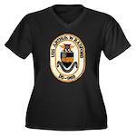 USS ARTHUR W. RADFORD Women's Plus Size V-Neck Dar