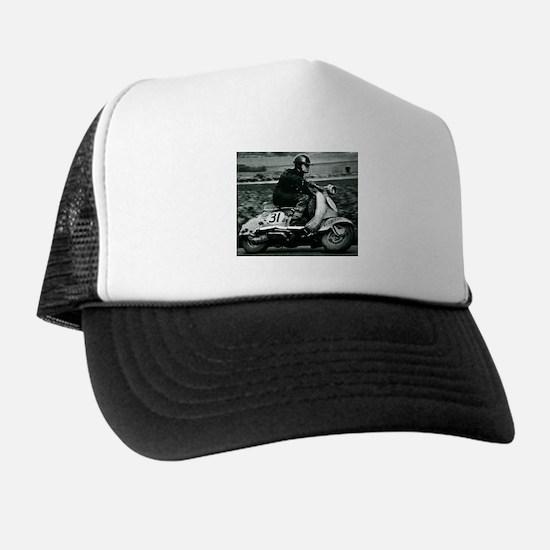 Scooter Race Trucker Hat