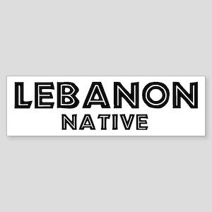 Lebanon Native Bumper Sticker