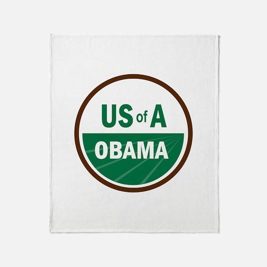 USofA Organic Obama Throw Blanket
