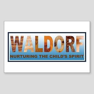 Waldorf Sticker (Rectangle 10 pk)
