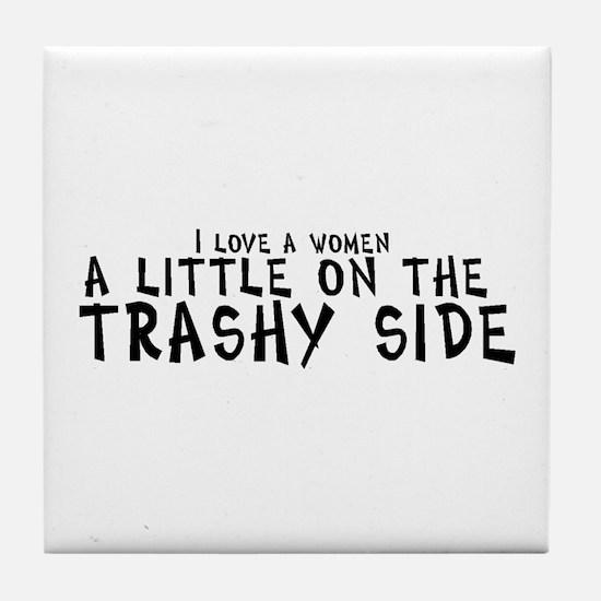 I love a women a little on th Tile Coaster