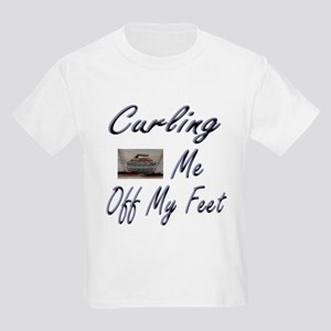 Curling Swept Me Off My Feet Kids T-Shirt