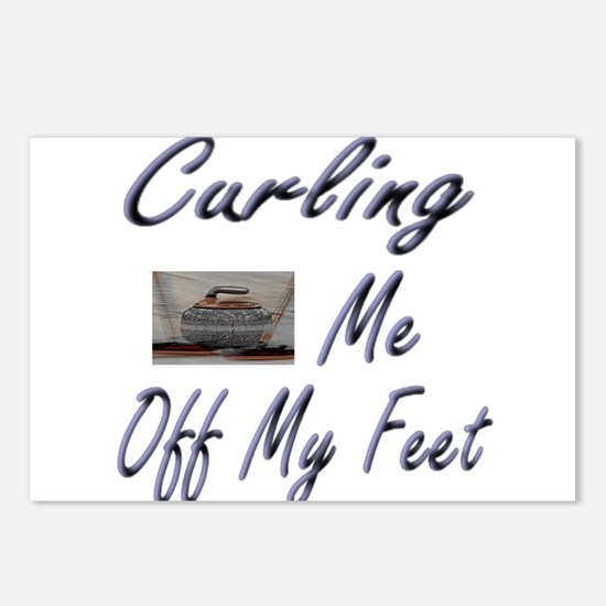 Curling Swept Me Off My Feet Postcards (Package of