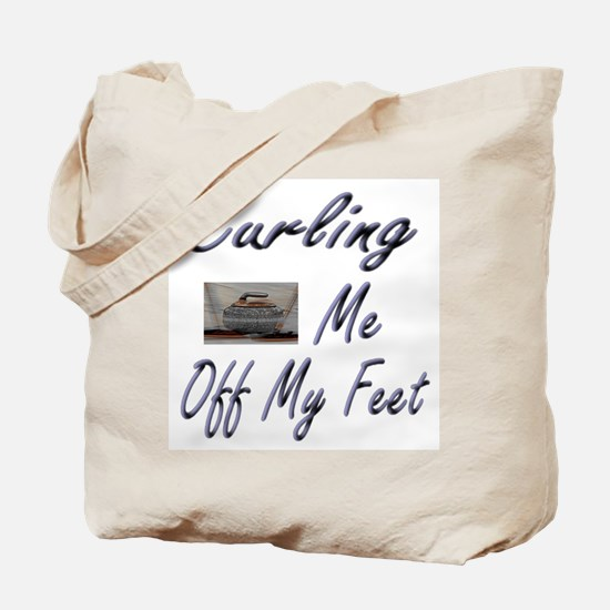 Curling Swept Me Off My Feet Tote Bag