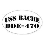 USS BACHE Sticker (Oval)