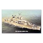 USS BACHE Sticker (Rectangle)