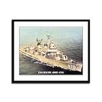 USS BACHE Framed Panel Print
